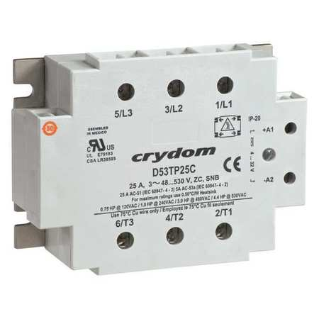 Crydom D53tp50c-10 Solid State Relay,4 To 32Vdc,50A