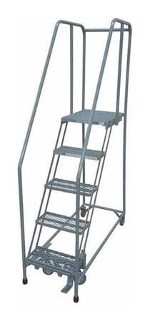 COTTERMAN 1005R2630A1E30B4AC1P6 Rolling Ladder, Steel,80In. H,Gray