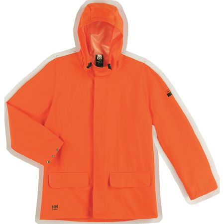 Rain Jacket, PVC/Polyester, Orange, L