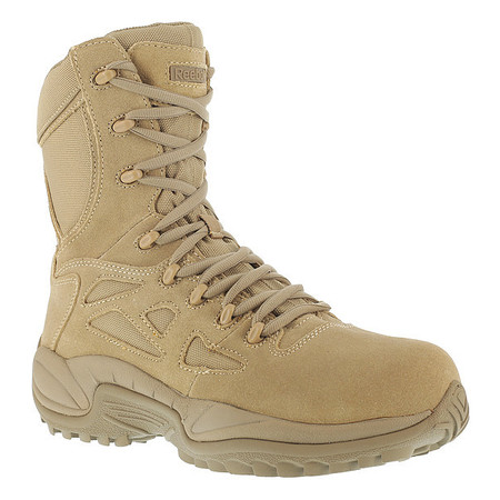 Military Boots, Safety Toe, 8In, 9, PR