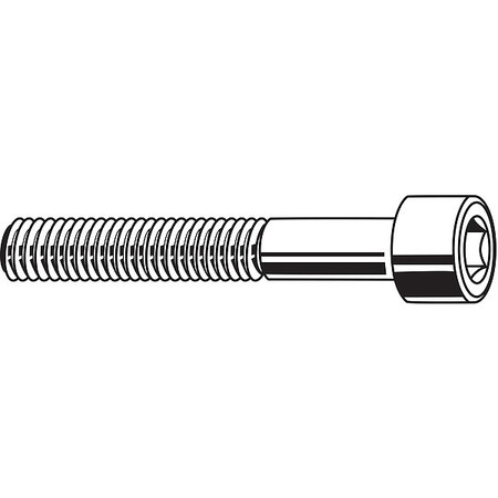 "3/8""-24 x 3-1/2"" Black Oxide Carbon Steel Socket Head Cap Screw,  10 pk."
