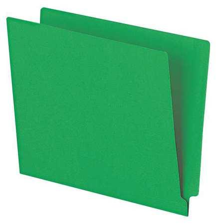 File Folders 8-1/2 x 11, Straight Tab, Green, Pk100