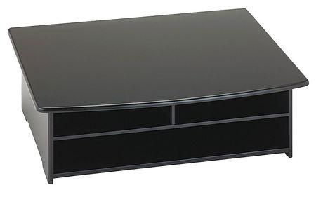 Desktop Printer Stand Black Wood