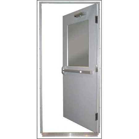 Steel Door, Push Bar, RHR, 36 X 80 In.