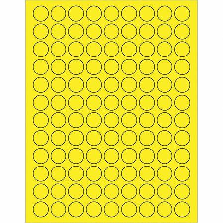 Details about TAPE LOGIC LL190YE Fl Circle Laser Labels,3/4