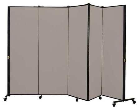 Screenflex Portable Room Divider, 9Ft 5In W, Stone HKDL605-DG | Zoro.com
