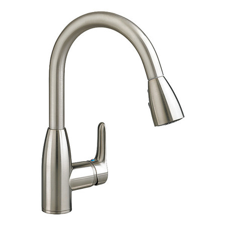 Pull Out Spray Kitchen Faucet, Stainless Steel, 1 Hole, Lever Handle