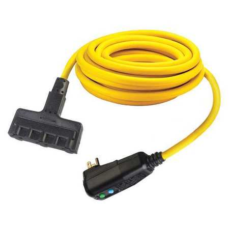Hubbell Wiring Device-Kellems GFCI Line Cord, Cord Length 25 ft., 15 ...