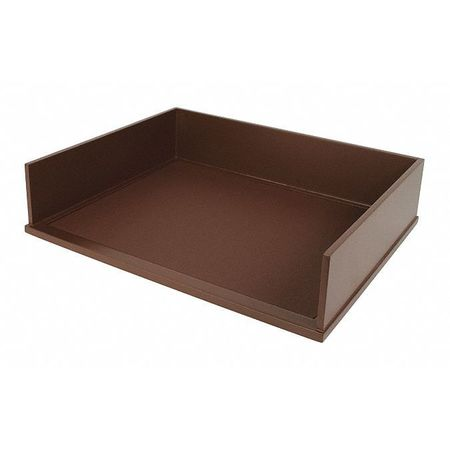 stacking letter tray brown