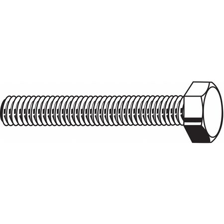 M5-0.80 x 12 mm. Grade A4 Plain Hex Head Cap Screw,  50 pk.
