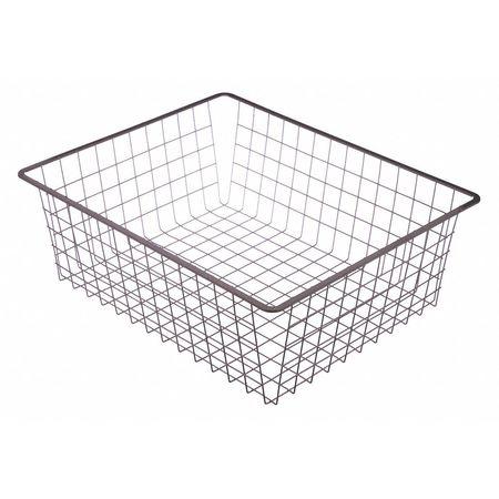 """White Wire Tote Basket, 21""""x17""""x7.17"""""""