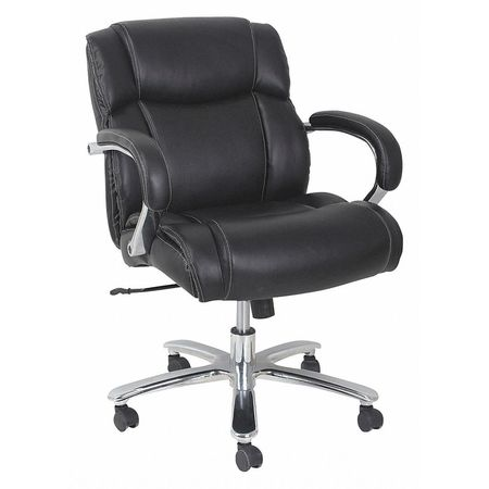 alera big tall leather chair black 350 lb alems4619 zoro com