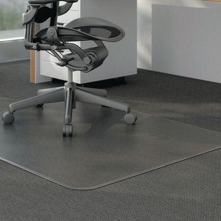 alera studded chair mat carpet 46 x60 clear unv56808 zoro com