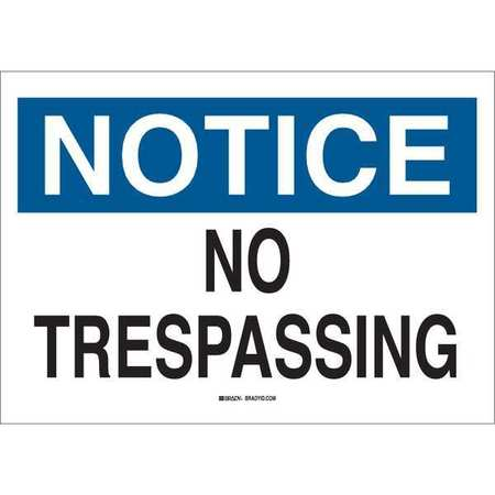 Notice Sign, 10 x 14In, BL and BK/WHT, AL