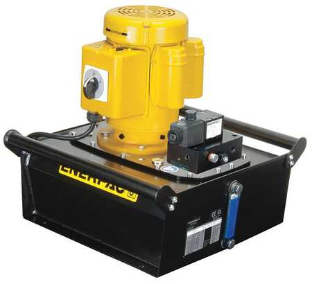 Hydraulic Pump, Electric, 1 hp, Induction Motor, 10,000 psi Max Pressure -  ENERPAC, ZE3108DB