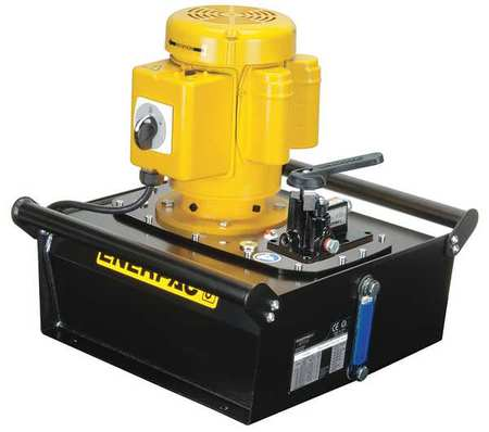 Hydraulic Pump, Electric, 1 hp, Induction Motor, 10,000 psi Max Pressure -  ENERPAC, ZE3204MB