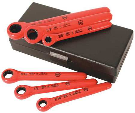 insulated box end wrench set wiha tools 21391 ebay. Black Bedroom Furniture Sets. Home Design Ideas