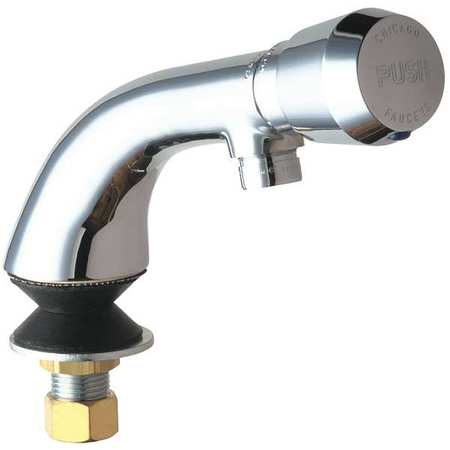 Chicago Faucets Rigid Bathroom Faucet Chrome Plated Hole ADA - Ada compliant bathroom faucets