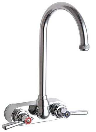 chicago faucets rigid swing gooseneck kitchen faucet chrome 2