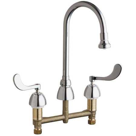 gooseneck kitchen faucet. Rigid/Swing Gooseneck Kitchen Faucet, Chrome, 3 Holes, Wrist Blade Handle Faucet