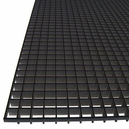 American Louver Eggcrate Panel Plastic Black Pk5 Tc 24