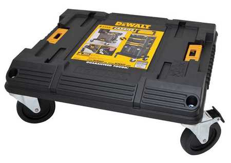 "17-11/64"" Stackable Storage Cart,  Black/Yellow"