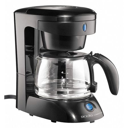 Andis Commercial Coffee Maker, 4 Cup, Plastic/Glass, ADC-3