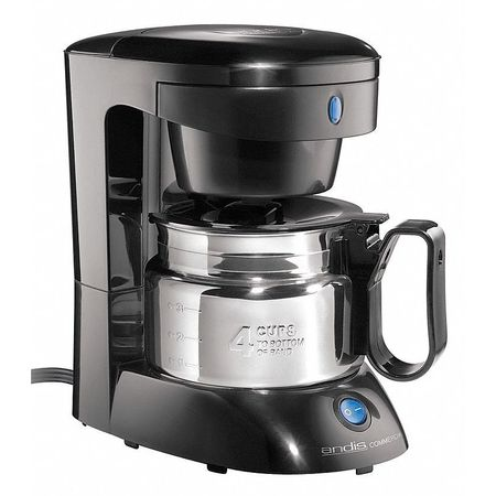 Stainless Steel Coffee Maker No Plastic Parts : Andis Commercial Coffee Maker, 4 Cup, Plastic/Stainless Steel ADC-3S Zoro.com