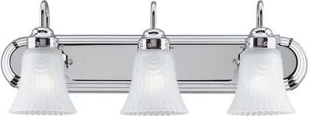 Light Fixture, Chrome, Frosted Glass