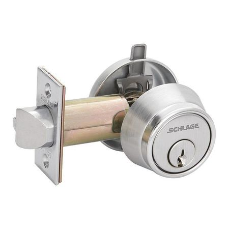Schlage Deadlatch Satin Chrome Single Cylinder B250pd