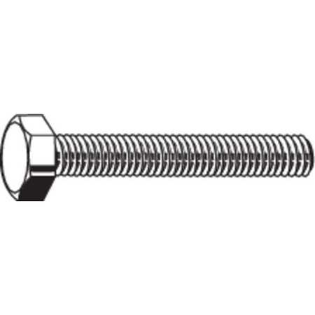 "1/4""-20 x 1/2"" Grade 18-8 (304) Plain Hex Head Cap Screw,  100 pk."