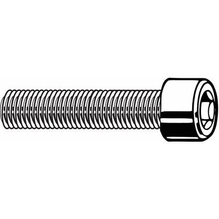 "1/4""-28 x 1-1/4"" Black Oxide Carbon Steel Socket Head Cap Screw,  100 pk."