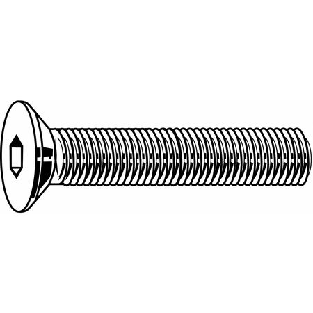 "#10-24 x 1"" 18-8 Stainless Steel Flat Socket Head Cap Screw,  100 pk."