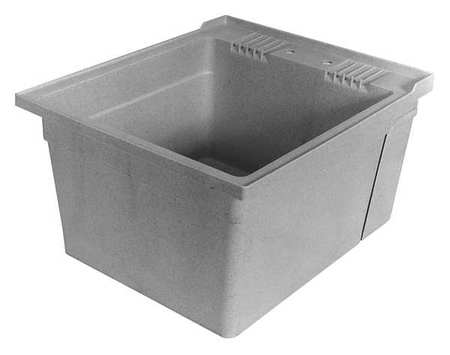 Superieur Utility Sink, Single Bowl, Gray