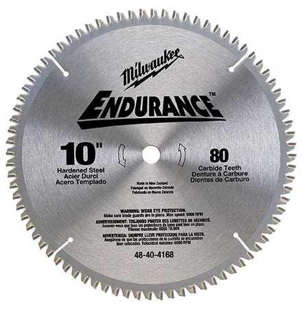 Milwaukee circular saw blade 10 in 80 teeth 48 40 4168 zoro circular saw blade 10 in 80 teeth greentooth Choice Image