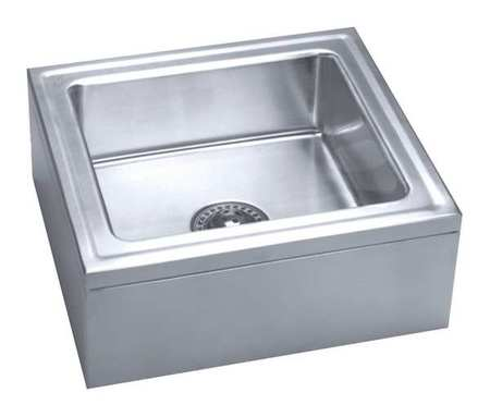 Just Manufacturing Mop Sink Stainless Steel Silver Bowl