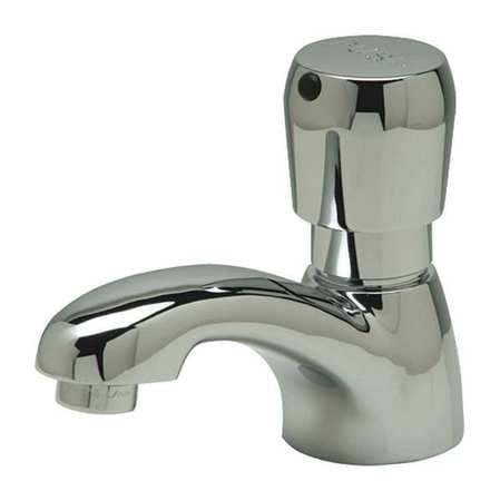 Bathroom Faucet Integral Brass Spout, Chrome Plated, 1 Hole, Push Button  Handle