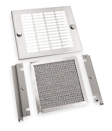 Exhaust Grille, Fan Size 5-5/8In, 6.13InH