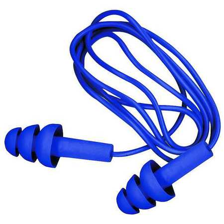 Reusable Ear Plugs, 25dB, Corded, Met Det, Univ, PR