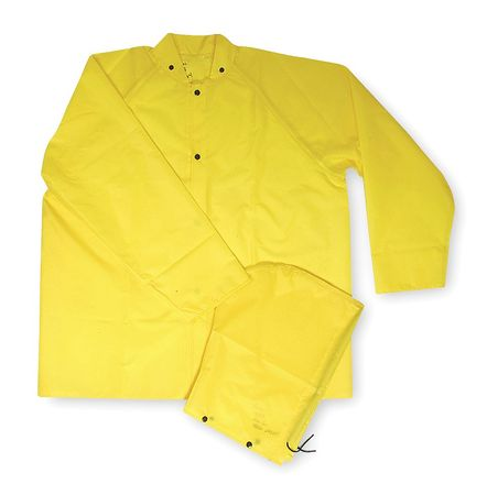 FR Rain Jacket/Detachable Hood, Yellow, M