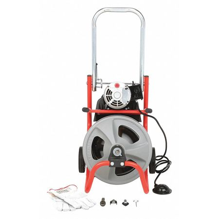 Drain Cleaning Machine, 1/2Inx75ft Cable