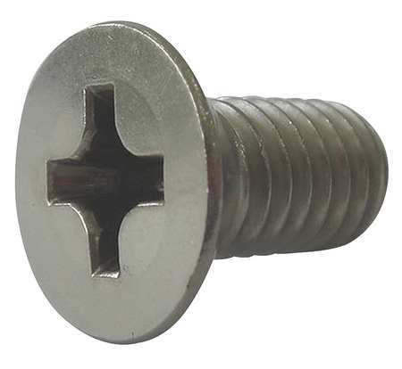 "1/4-20 x 2-1/2"" Flat Head Phillips Machine Screw,  50 pk."