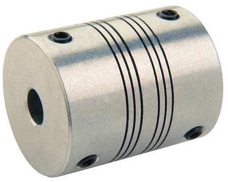 Coupling, 4 Beam, Bore 1/2x1/2 In