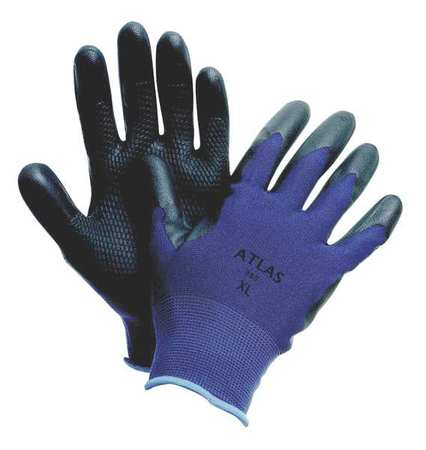 Coated Gloves, XL, Black/Blue, PR
