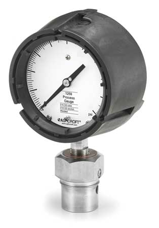 Pressure Gauge, 30 Hg to 60 psi, 4-1/2In