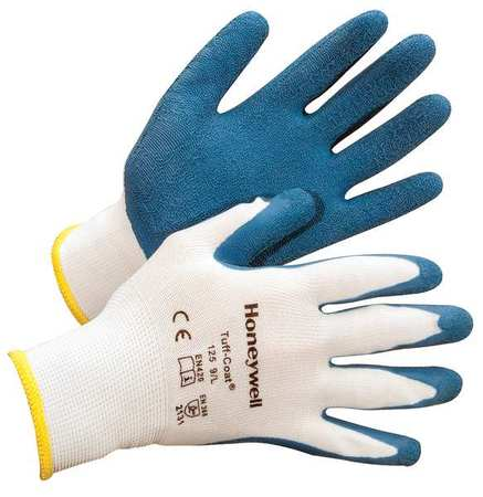 Coated Gloves, 2XL, Blue/White, PR