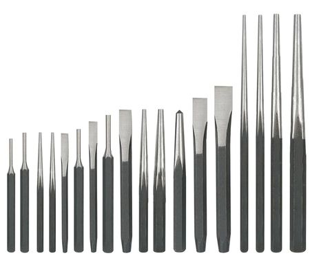Punch and Chisel Set, 18 Pc