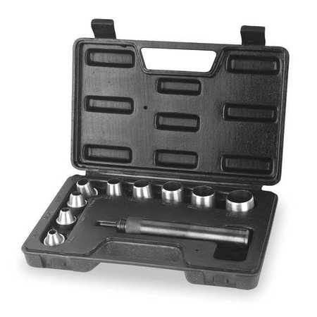 Gasket Punch Set, 1/4 To 1 In, 10 Pc