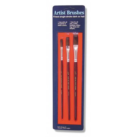 Artist  Brush, 7-3/4in., PK3