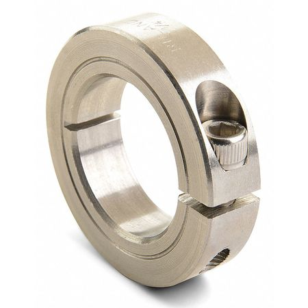 Shaft Collar, Clamp, 1Pc, 1/4 In, 303 SS
